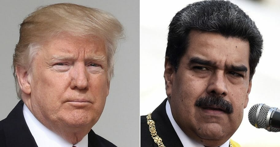 President Donald Trump; Venezuelan President Nicolas Maduro