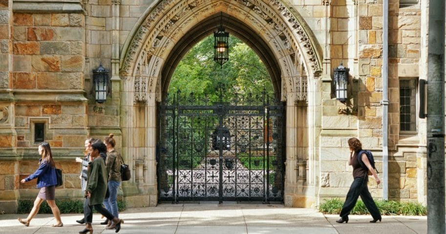 Students at Yale University