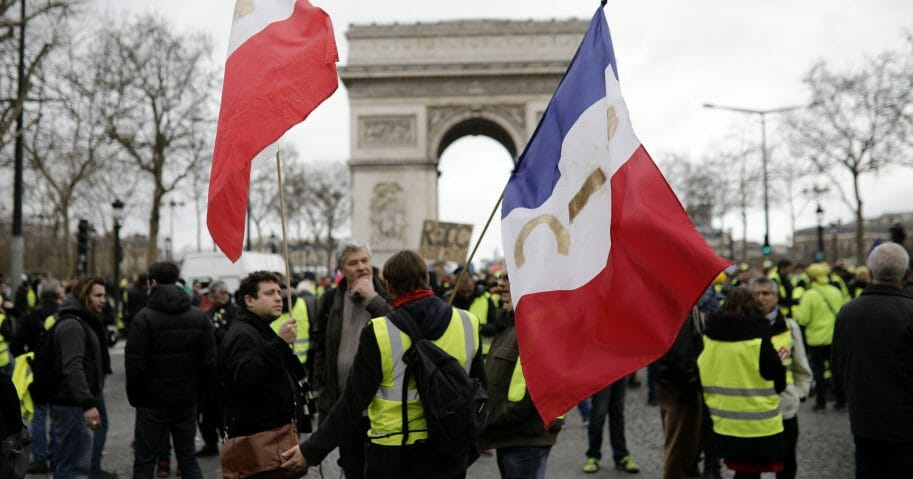 Protesters gather in Paris, March 2, 2019.