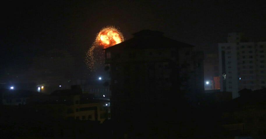 Israeli airstrikes in Gaza.