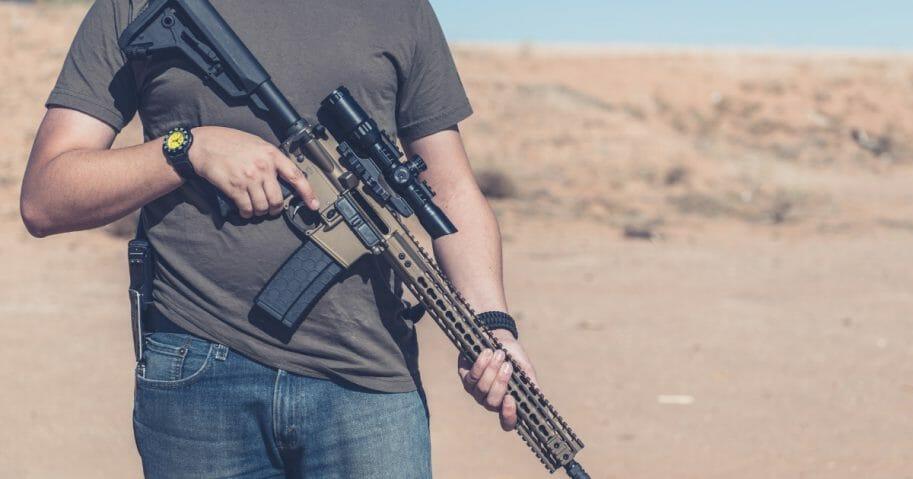 AR-15 stock photo