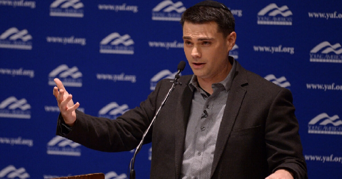 Conservative commentator Ben Shapiro addresses the student group Young Americans for Freedom at the University of Utah in a September 2017 file photo.