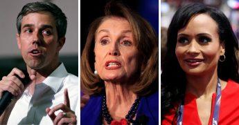 Beto O'Rourke; Nancy Pelosi; Katrina Pierson