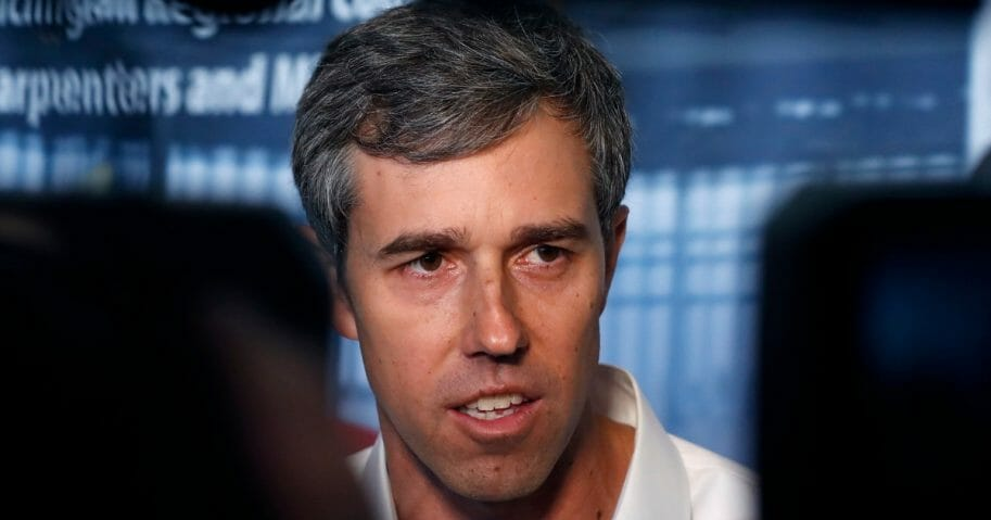 Democratic presidential candidate Beto O'Rourke at the Michigan Regional Council of Carpenters on Monday, March 18, 2019, in Ferndale, Mich.