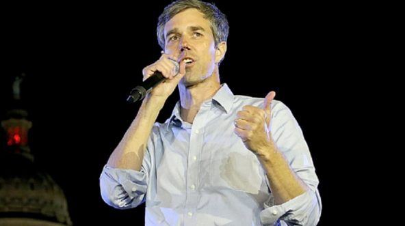 "Robert ""Beto"" O'Rourke speaks at a campaign rally Saturday in Austin."