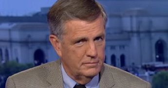 Screen shot of Brit Hume on the Fox News set.