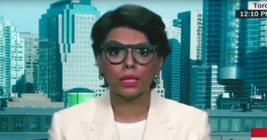 Dr. Qanta Ahmed being interviewed Saturday on CNN.