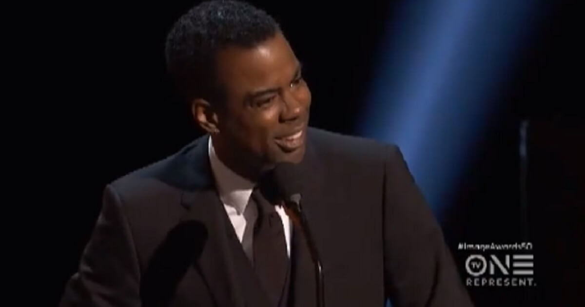 Comedian Chris Rock on stage at Saturday night's NAACP Image Awards in Hollywood.