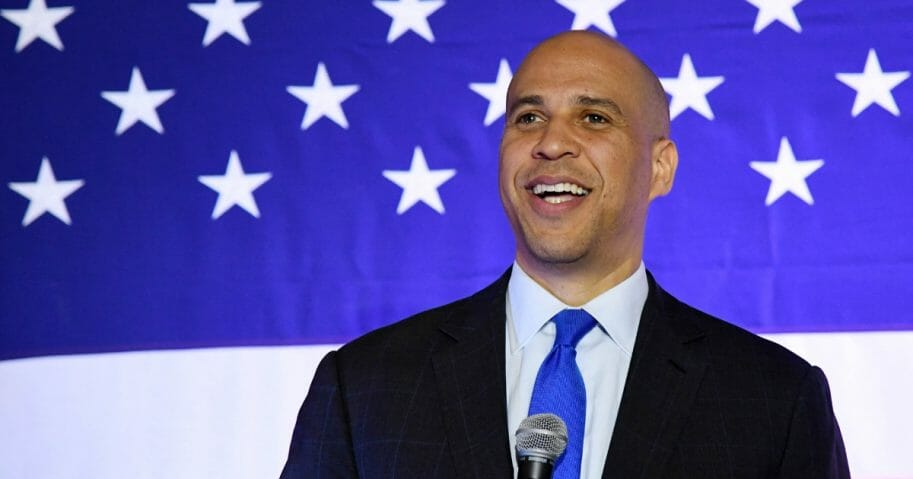 U.S. Sen. Cory Booker (D-NJ) speaks at his 'Conversation with Cory' campaign event at the Nevada Partners Event Center on Feb. 24, 2019, in North Las Vegas, Nevada.