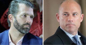 Donald Trump Jr., left; and attorney Michael Avenatti