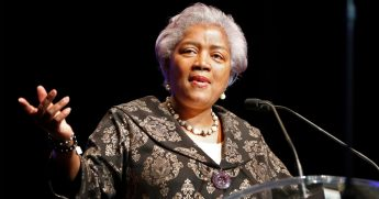 This May 7, 2018, file photo shows Donna Brazile at the inauguration of Mayor Latoya Cantrell in New Orleans.