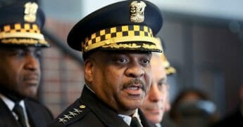"Chicago Police Superintendent Eddie Johnson speaks during a news conference March 26, 2019, after prosecutors abruptly dropped all charges against ""Empire"" actor Jussie Smollett."