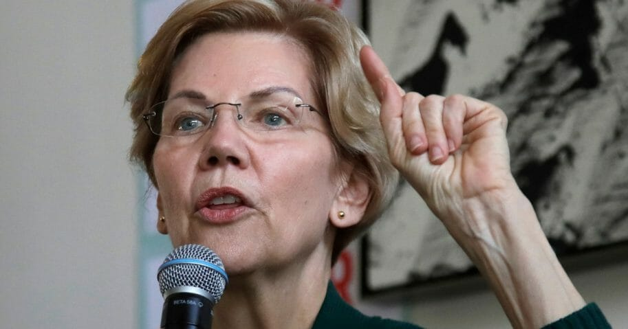 Democratic presidential candidate Sen. Elizabeth Warren, D-Mass., speaks at a campaign event in Salem, New Hampshire.