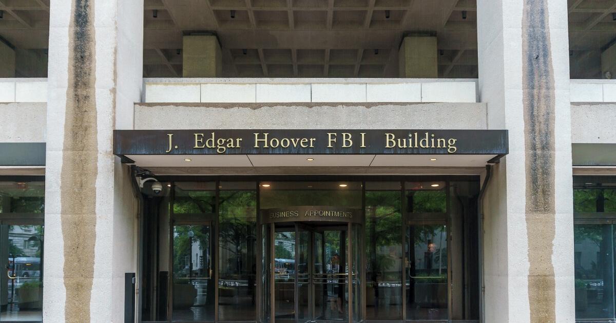 The exterior of the FBI Headquarters