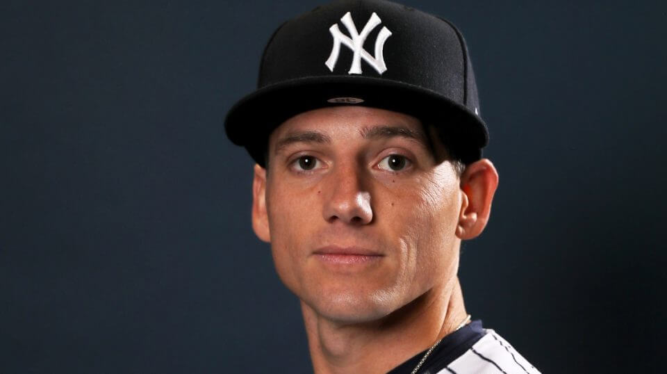 Danny Farquhar #36 of the New York Yankees poses for a portrait during the New York Yankees Photo Day on Feb. 21, 2019 at George M. Steinbrenner Field in Tampa, Florida.