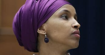 Rep. Ilhan Omar (D-Minn.) participates in a House Education and Labor Committee Markup on the H.R. 582 Raise The Wage Act in the Rayburn House Office Building on March 6, 2019 in Washington, D.C.