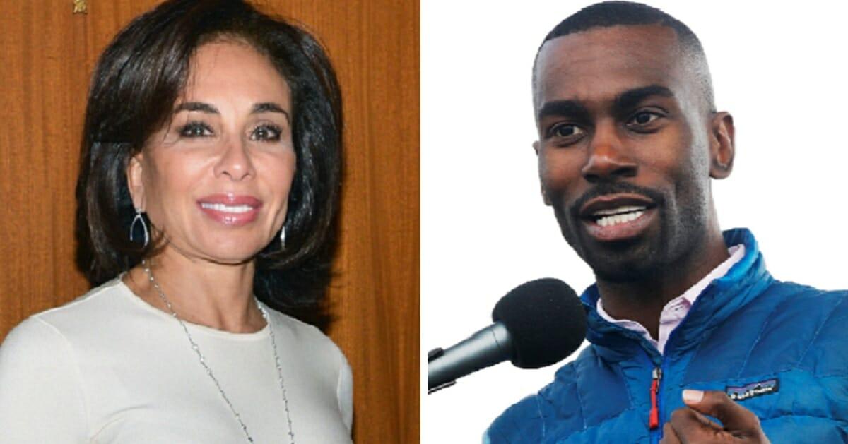Fox News' Judge Jeanine Pirro, left; and Black Lives Matter activist Deray McKesson, right.