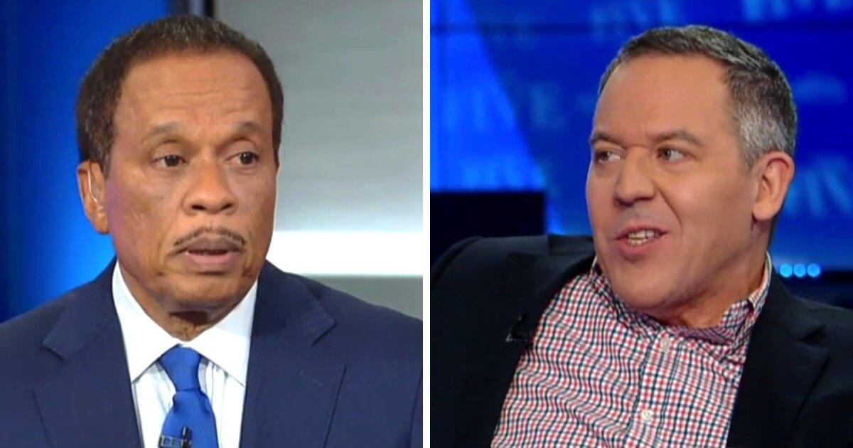 "Juan Williams, left, and Greg Gutfeld, panelists on Fox News' ""The Five."""