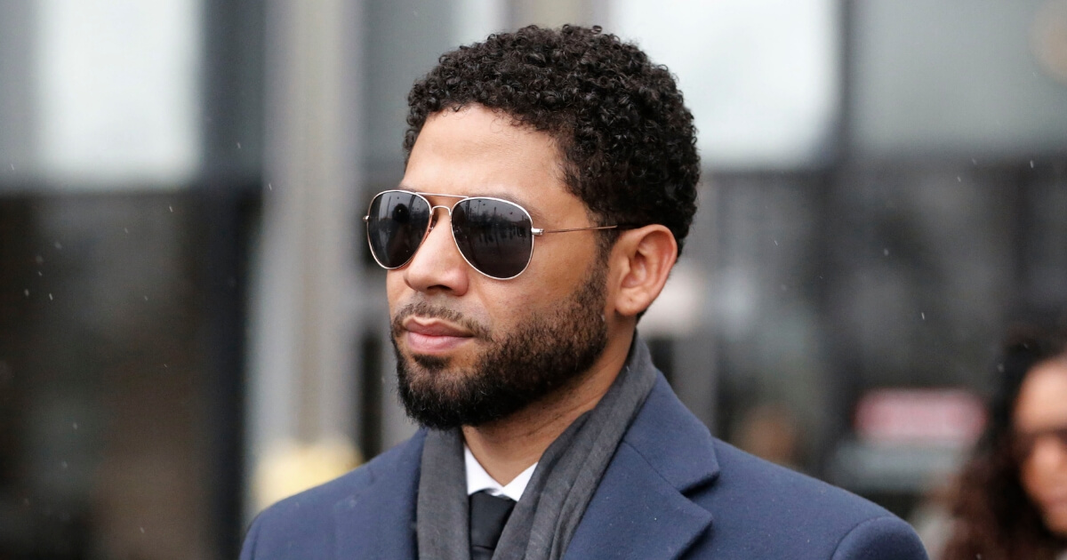 Actor Jussie Smollett leaves Leighton Criminal Courthouse after his court appearance on March 14, 2019, in Chicago, Illinois.