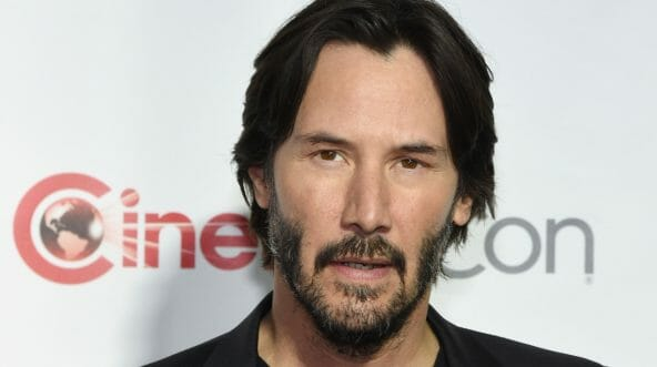 Actor Keanu Reeves, recipient of the Vanguard Award, attends the CinemaCon Big Screen Achievement Awards brought to you by the Coca-Cola Company at Omnia Nightclub at Caesars Palace during CinemaCon, the official convention of the National Association of Theatre Owners, on April 14, 2016, in Las Vegas, Nevada.