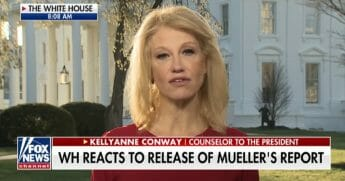 White House counselor Kellyanne Conway appears on Fox News on Monday
