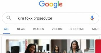 search results on Google from an image of Chicago prosecutor Kim Fox
