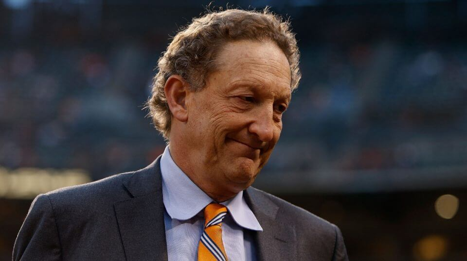 San Francisco Giants CEO Larry Baer looks on before a game against the San Diego Padres at AT&T Park on Sept. 12, 2016.
