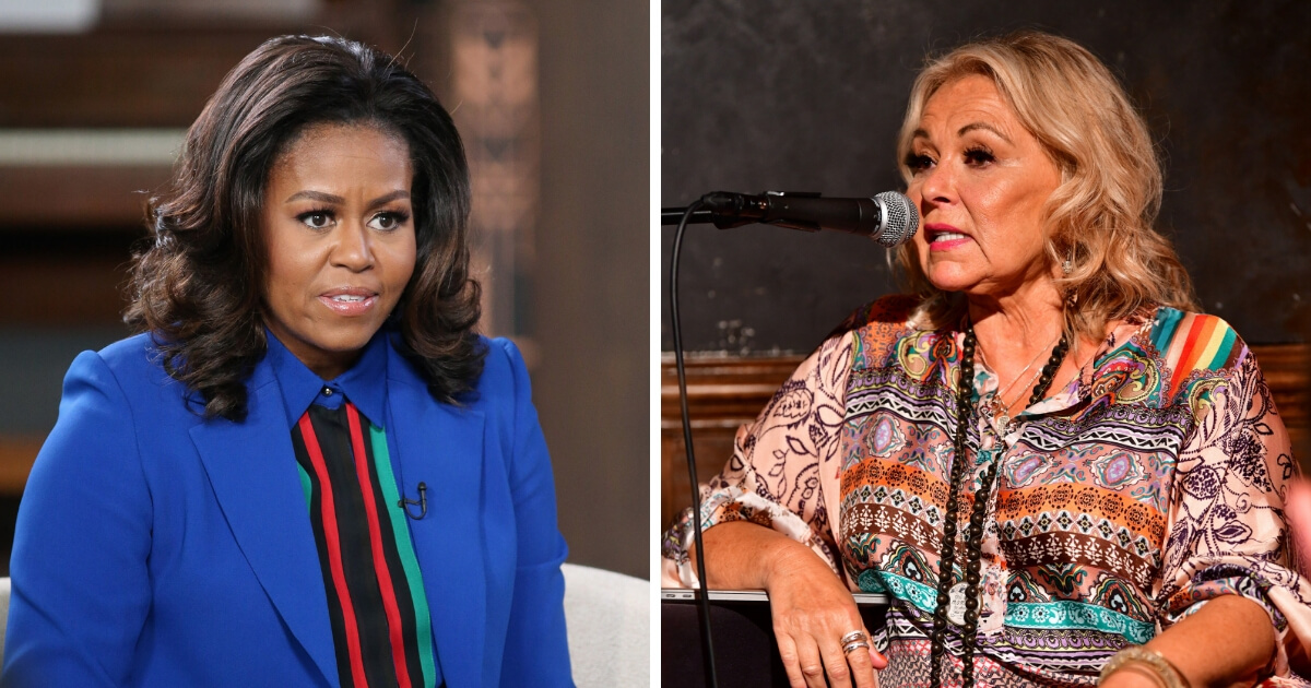 Michelle Obama and Roseanne Barr