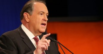Former Arkansas Gov. Mike Huckabee in a 2016 file photo.