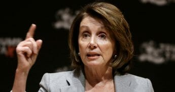 Nancy Pelosi speaks during a town hall-style meeting Thursday, Feb. 1, 2018, in Cambridge, Mass.
