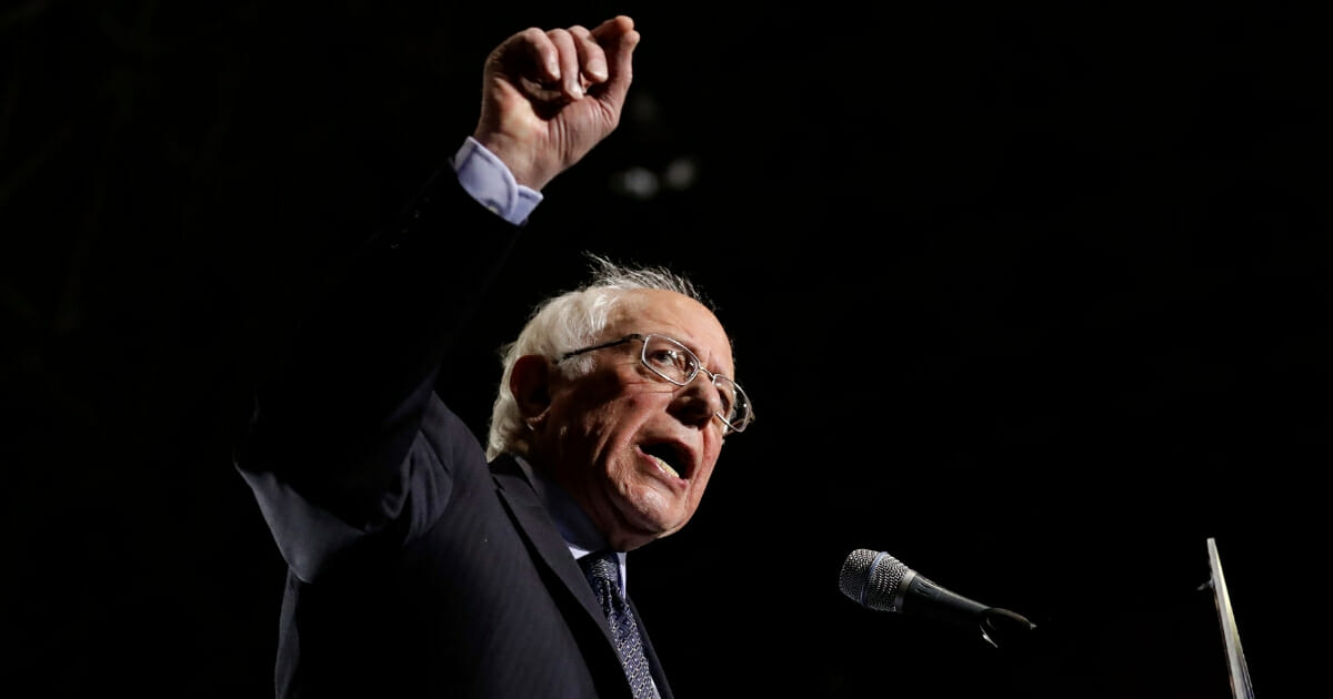 Sen. Bernie Sanders of Vermont speaks as he kicks off his 2020 presidential campaign at Navy Pier in Chicago on March 3, 2019.