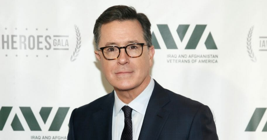 Special guest Stephen Colbert attends IAVA 12th Annual Heroes Gala at the Classic Car Club Manhattan on Nov. 8, 2018, in New York City.