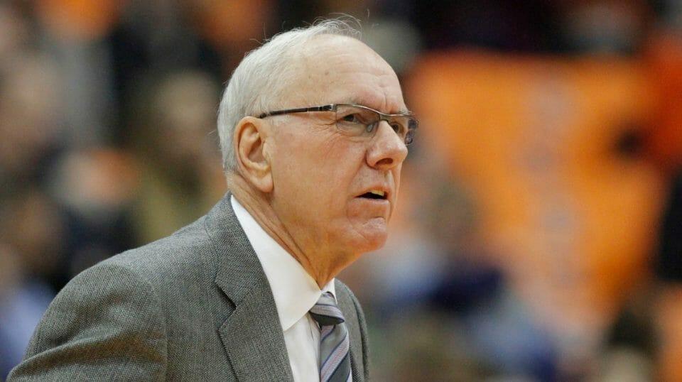 Syracuse basketball coach Jim Boeheim