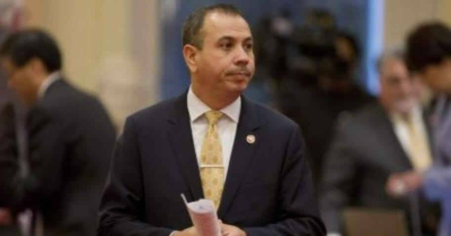 "State Sen. Tony Mendoza, D-Artesia, at the Capitol in Sacramento, California. Investigators say Mendoza likely engaged in unwanted ""flirtatious or sexually suggestive"" behavior with six women. He resigned in February 2018."