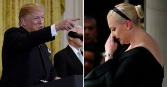 President Donald Trump; Meghan McCain