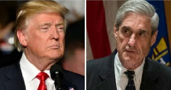 President Donald Trump, left; and special counsel Robert Mueller, right.