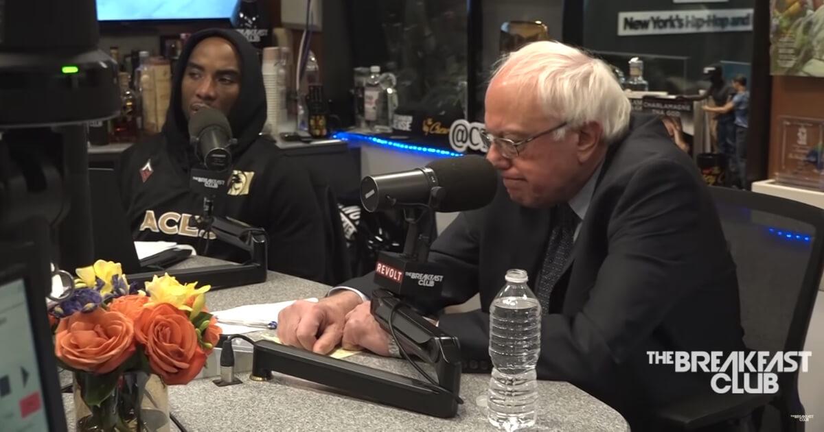 "Vermont Sen. Bernie Sanders appears on ""The Breakfast Club."""