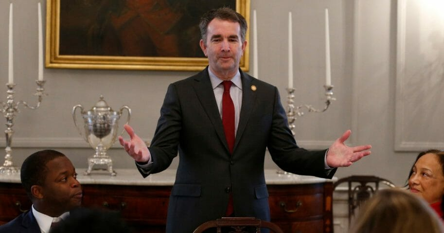 Virginia Gov. Ralph Northam hosts African-American leaders for a breakfast at the Governor's Mansion in Richmond.
