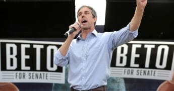 Beto O'Rourke addresses a campaign rally at the Pan American Neighborhood Park Nov. 4, 2018 in Austin, Texas.