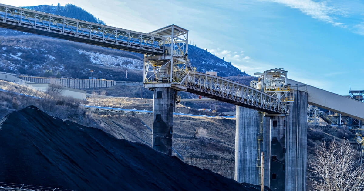 Coal mining operation near Somerset, Colorado.