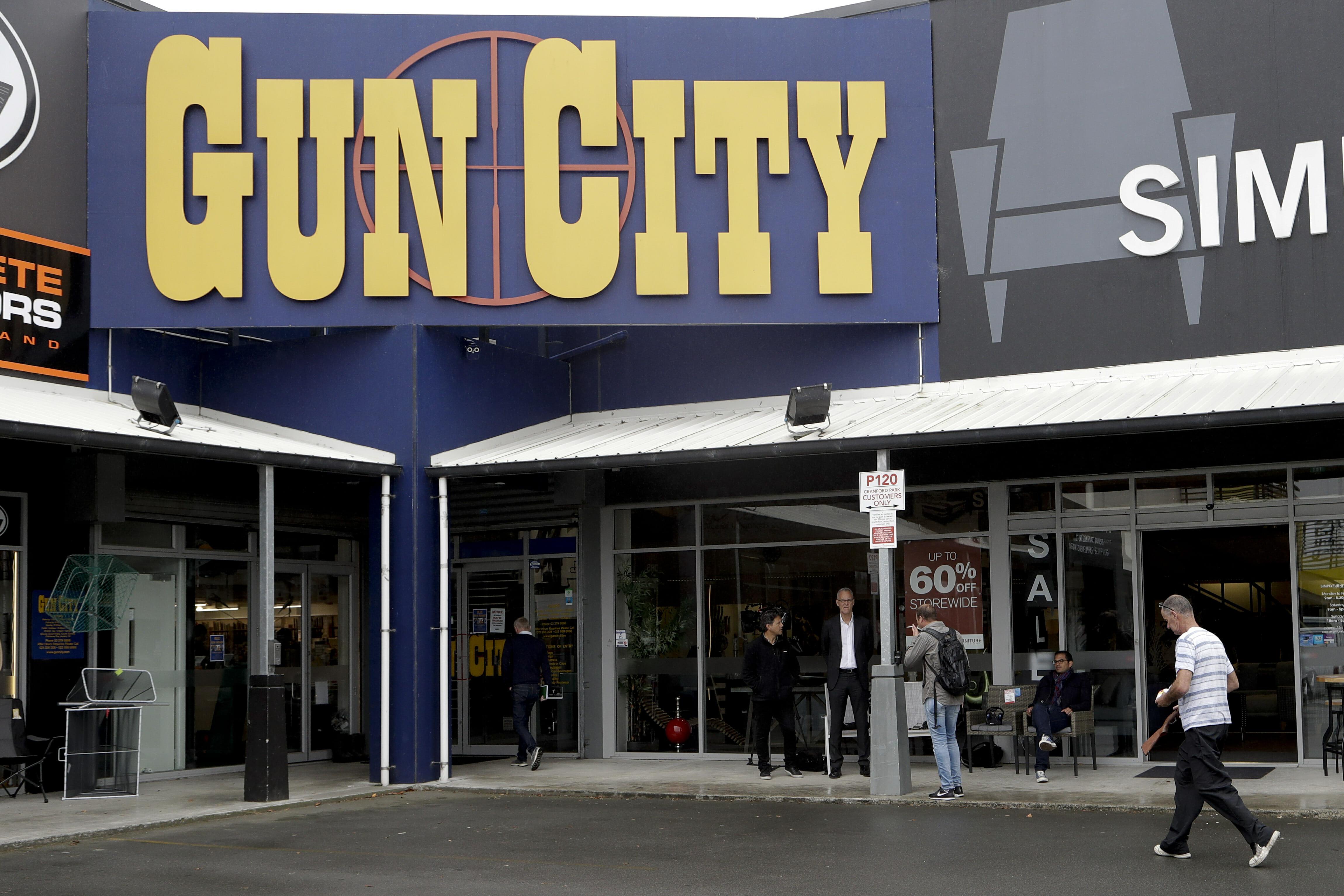 gun store in New Zealand