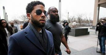 Jussie Smollett arrives at Leighton Criminal Courthouse on March 14, 2019, in Chicago, Illinois.