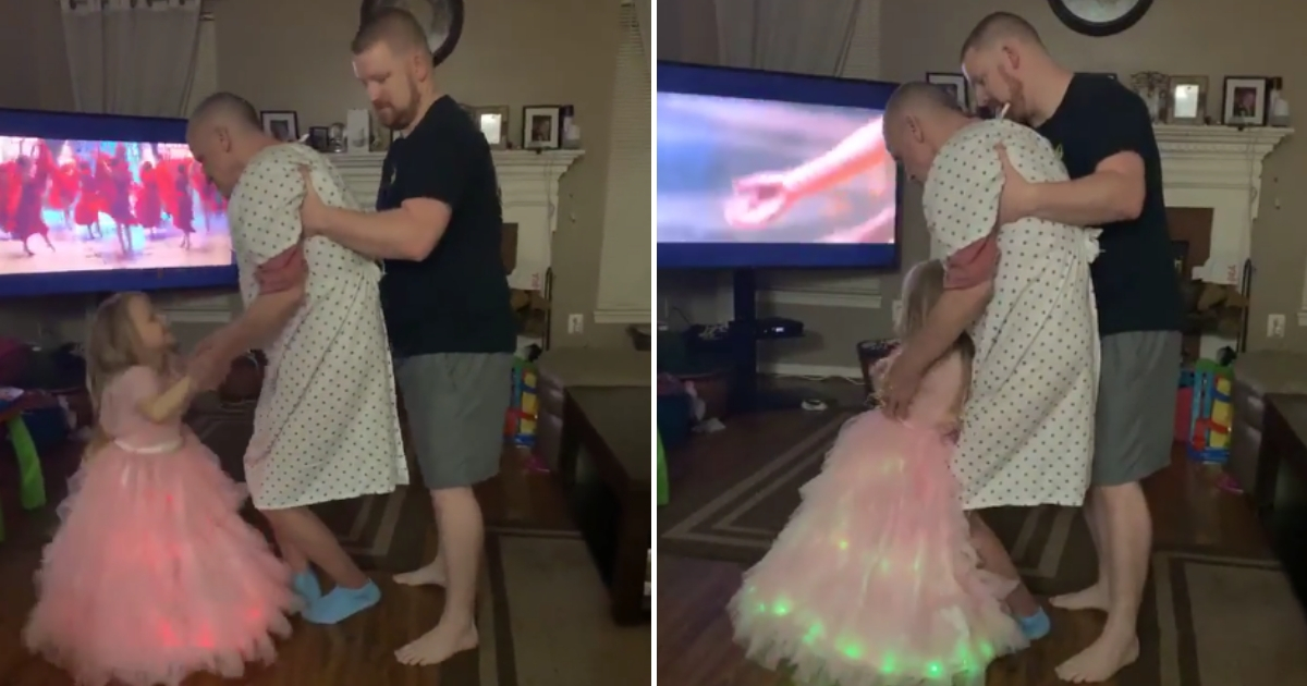 Little 'Princess' Wanted To Dance with Her Grandfather, So Dad Steps Up To Help in Sweet Video