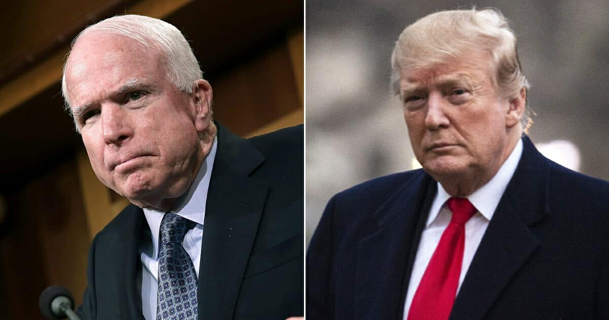 John McCain; Donald Trump.
