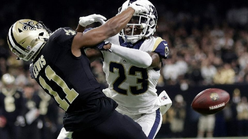 The infamous pass interference penalty that wasn't called in the Jan. 20 NFC Championship.