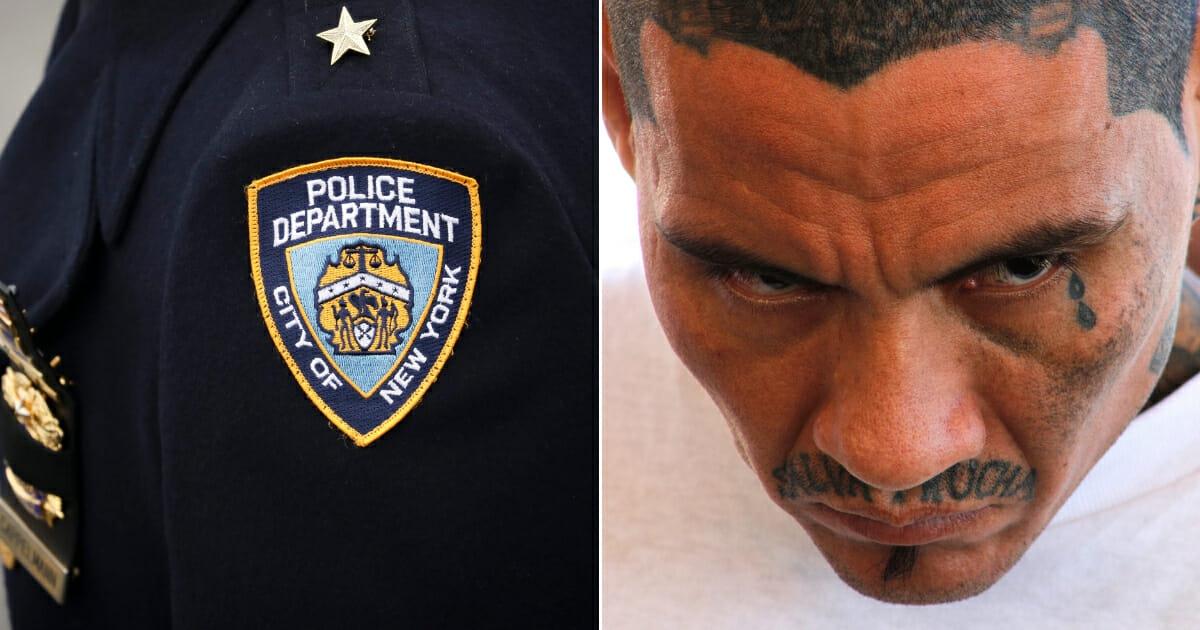 An NYPD officer badge / gang member