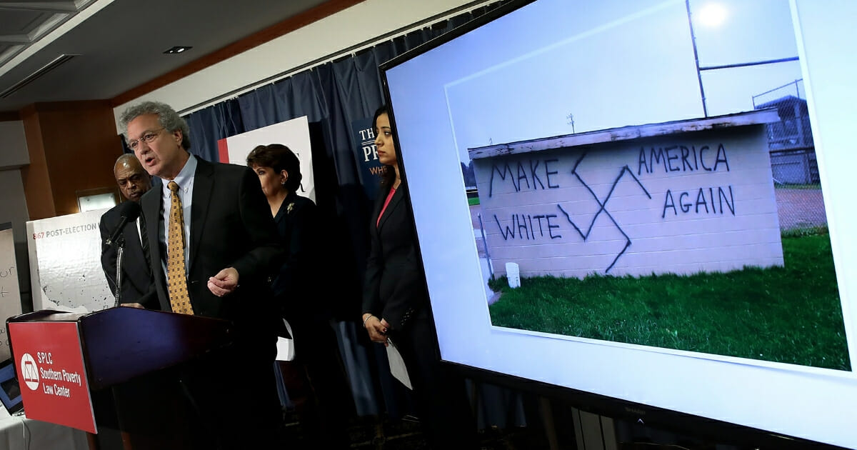 Richard Cohen, president of the Southern Poverty Law Center, speaks during a press conference Nov. 29, 2016 in Washington, D.C.
