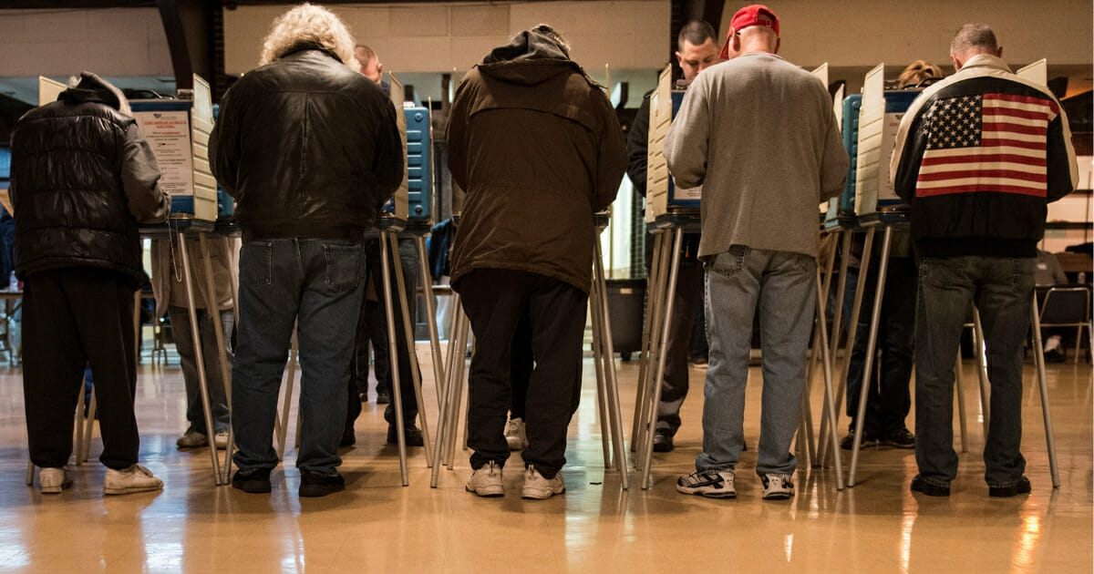 People vote on Election Day