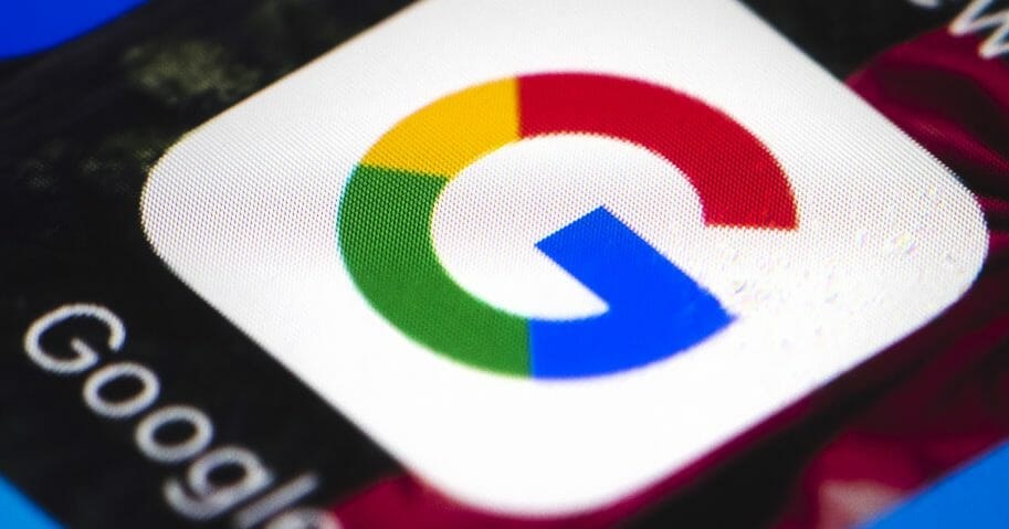 This Wednesday, April 26, 2017, file photo shows the Google mobile phone icon, in Philadelphia.