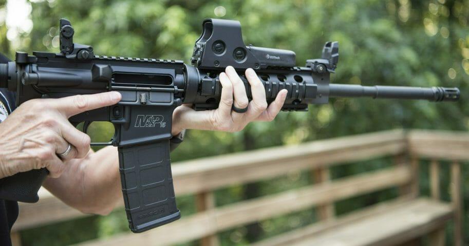 Man holding an AR-15